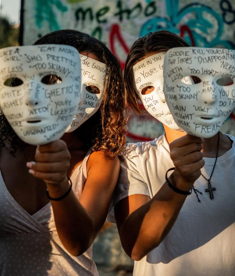 Senior Aubrey Audish decided to share a personal project of her's on her photography account on Instagram @Aubrey.photo talking about mental health and the importance of speaking out. She highlights senior Jordenn Thompson and junior Ryan Leskin expressing their personal struggles on white masks.
