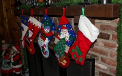 Stockings are hung awaiting sweet treats to fill them up.