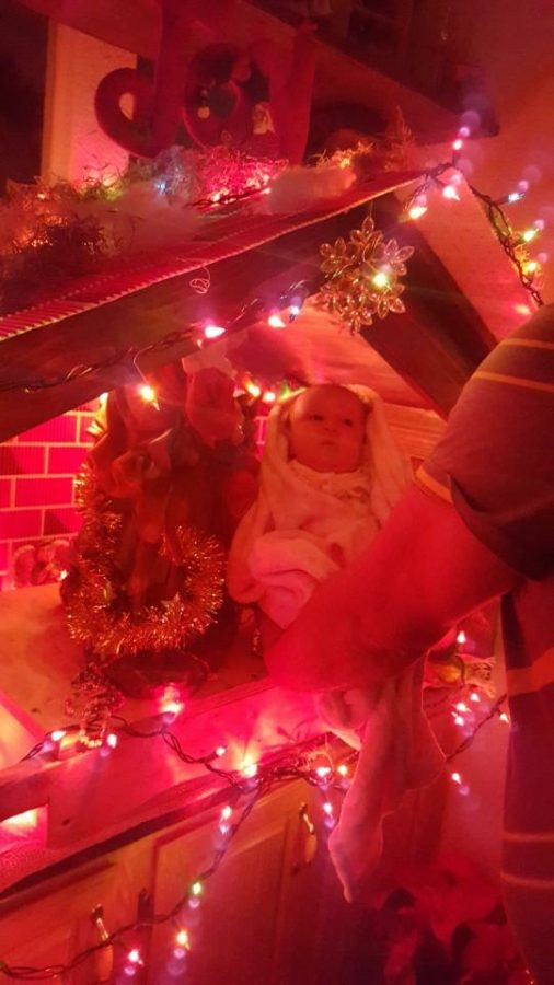Many families put together Nativity scenes in their own homes, and host the celebration there.
