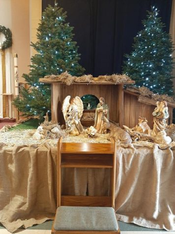 Through the years many churches take part in making a Nativity scene. Last year Sta. Clara de Asis Church took participation and made this beautiful scene.