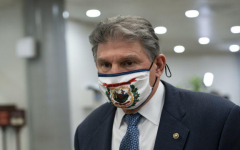 Sen. Joe Manchin, D-W.Va., departs Capitol Hill in Washington on Feb. 13, 2021.