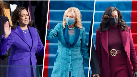 Vice President Kamala Harris, First Lady Dr. Jill Biden, former First Lady Michelle Obama attend the Inauguration Day ceremony in Washington, D.C. on Jan. 20, 2021.