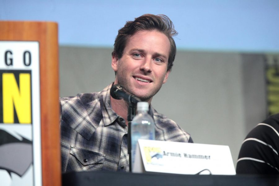 Armie Hammer speaking at the 2015 San Diego Comic-Con International, for