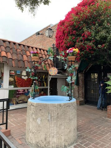 A Wishing Well on Olvera Street.