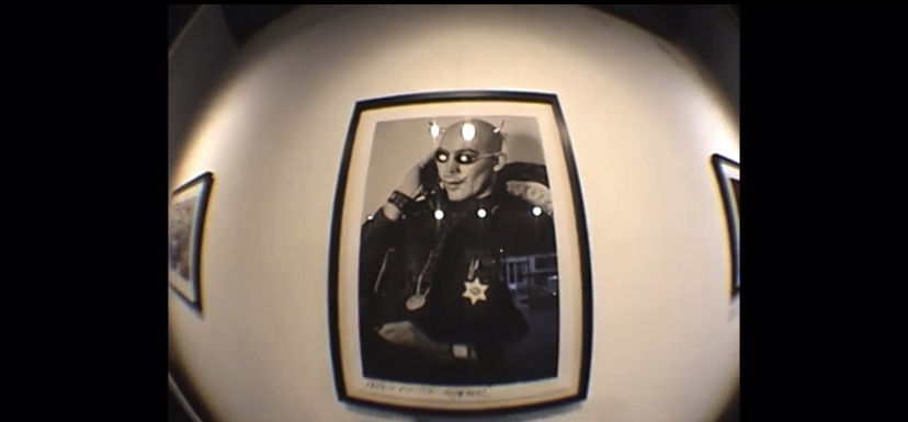 Hunter S. Thompson in the painting