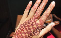 This is a henna pattern I made on myself.