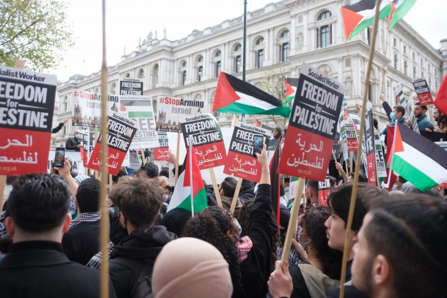 May 11 2021 - Emergency Rally For Jerusalem, Save Sheikh Jarrah protest in London.