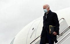 Recent photo of President Joe Biden exiting a plane on his latest travels.