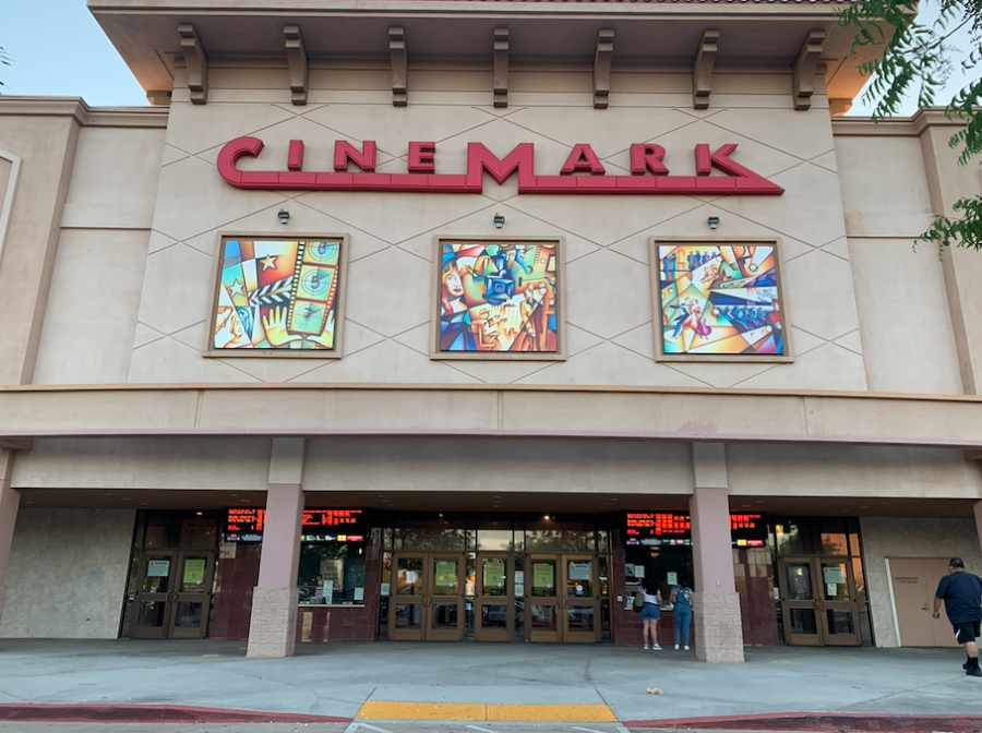 Entrance to the Cinemark located at the Antelope Valley Mall.