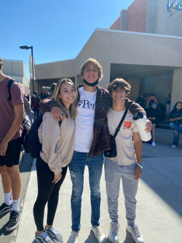 Seniors Naomi Phillips, Shane Wilson, and Ryan Leskin dressing up in all brown to represent class color day! We love our seniors!