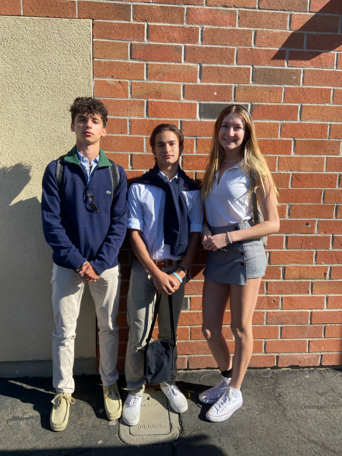 Team country club participants Sam Regez, Ryan Leskin, and Emily Guluzza showing off their best country club outfits!