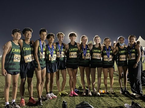 The cross country team after a successful day of racing.