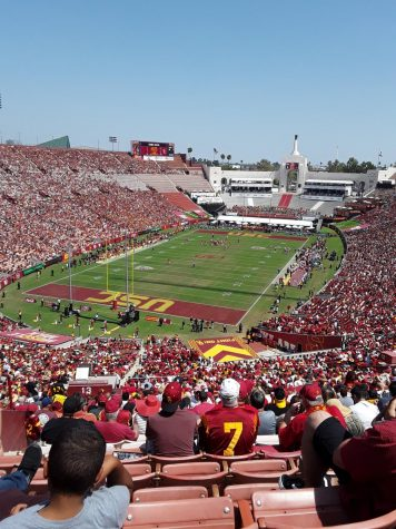 USC Football Game; one of the many events students get to enjoy if they attend school here.
