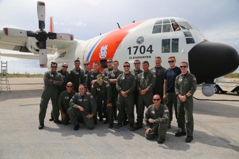 U.S. Coast Guard Air Station Clearwater aircrew members prepare to depart in support of the humanitarian efforts taking place in Haiti after a 7.2 earthquake in Great Inagua, Bahamas, Aug. 19, 2021. Aircrews from Clearwater will be sent to Haiti to replace members previously deployed to continue rescue operations. (U.S. Coast Guard photo by Petty Officer 3rd Class Erik Villa Rodriguez)