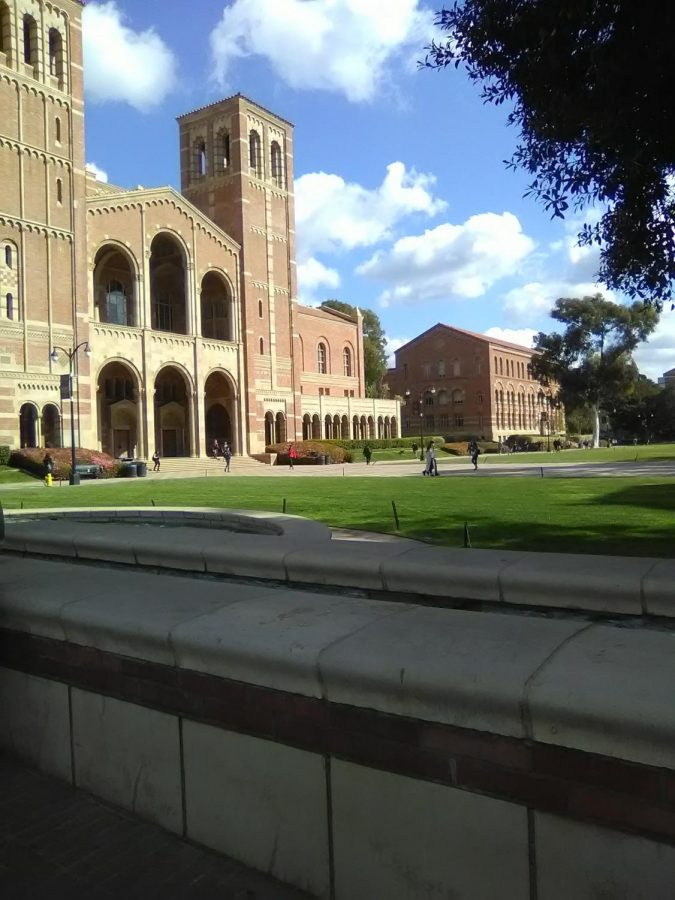 The gorgeous UCLA campus.
