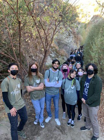 The club exploring nature walking around Placerita and having fun