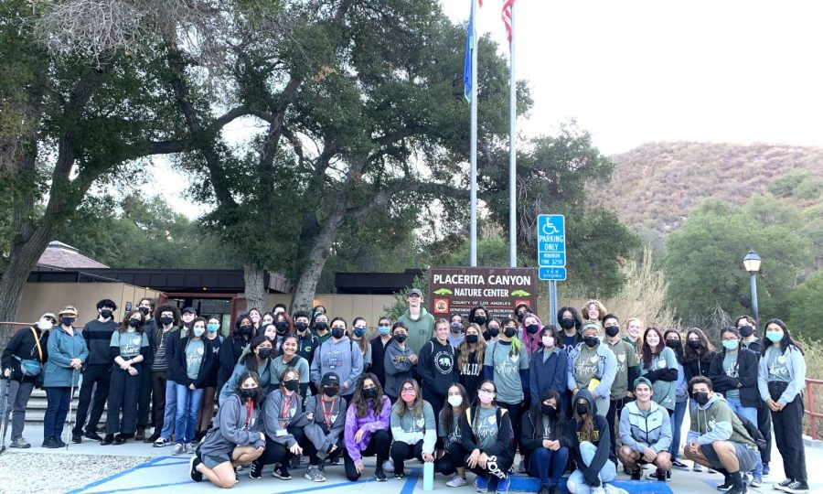 The Eco Chicos club goes on a hike at Placerita Canyon to enjoy nature