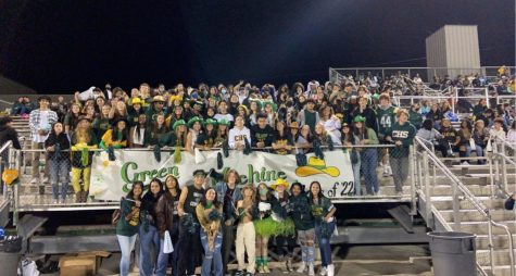 Our Green Machine cheering on our Cowboys!!!