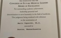 The nomination paper Daniela received for the award.